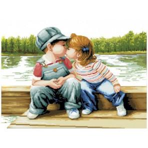 Поцелуй у реки Набор для вышивания Белоснежка