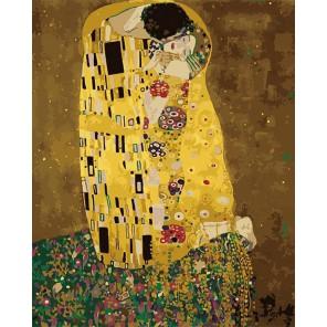 Поцелуй Густав Климт Раскраска по номерам акриловыми красками на холсте Menglei