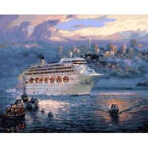 Океанский лайнер Раскраска картина по номерам акриловыми красками на холсте