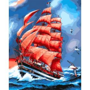 Парусник Америго Веспуччи Раскраска картина по номерам на холсте