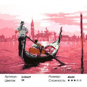 Количество цветов и сложность В розовом свете (художник Ричард Макнейл) Раскраска картина по номерам акриловыми красками на холс