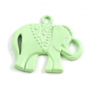 Слоник светло-зеленый Подвеска металлическая для скрапбукинга, кардмейкинга