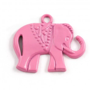 Слоник розовый Подвеска металлическая для скрапбукинга, кардмейкинга
