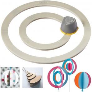 Резак для двойной окружности Инструмент для скрапбукинга, кардмейкинга EK Succeess