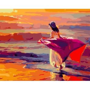 Прогулка по пляжу Раскраска картина по номерам на холсте Color Kit