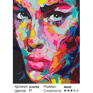 Количество и сложность Цветной портрет Раскраска картина по номерам акриловыми красками на холсте