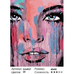 Количество и сложность Акварельное лицо Раскраска картина по номерам акриловыми красками на холсте