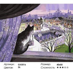 Количество и сложностьВид на город Раскраска картина по номерам акриловыми красками на холсте