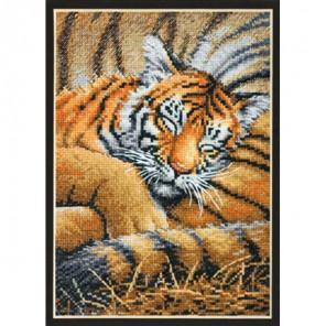 Спящий тигрёнок 70- 65105 Набор для вышивания Dimensions ( Дименшенс )