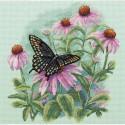 Бабочка и ромашки Набор для вышивания Dimensions ( Дименшенс )