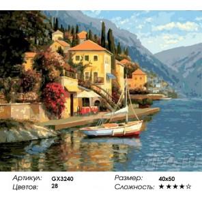 Количество и сложность Город в горах Раскраска картина по номерам акриловыми красками на холсте