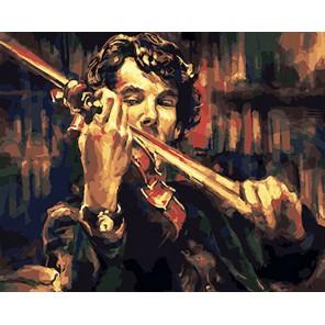 Количество и сложность Скрипка Шерлока Холмса Раскраска картина по номерам акриловыми красками на холсте