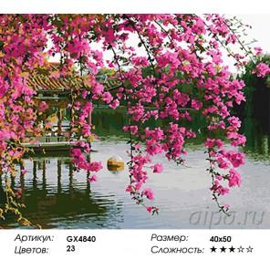 Парк Золотого храма Раскраска картина по номерам на холсте