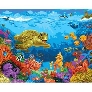 Количество и сложность Путешествие по подводному миру Раскраска картина по номерам акриловыми красками на холсте