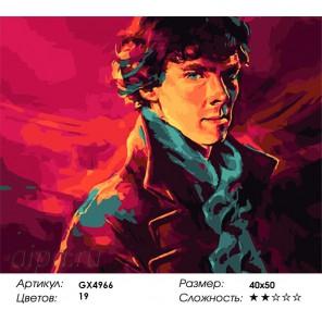 Шерлок Холмс Раскраска картина по номерам на холсте