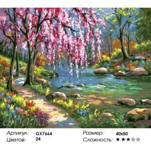 Безмятежность Раскраска картина по номерам акриловыми красками на холсте