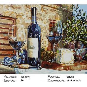 Количество цветов и сложность Аперитив Раскраска картина по номерам акриловыми красками на холсте