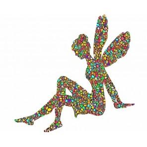 Цветочная фея  Раскраска картина по номерам акриловыми красками на холсте Menglei