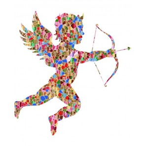 Амур пускающий стрелу Раскраска картина по номерам акриловыми красками на холсте Menglei