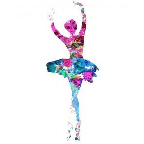 Красочная балерина Раскраска картина по номерам акриловыми красками на холсте Menglei