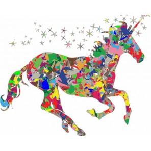 Звездная лошадка Раскраска картина по номерам акриловыми красками на холсте Menglei