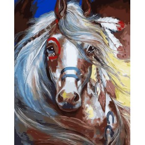 Тотем лошади Раскраска картина по номерам на холсте Menglei