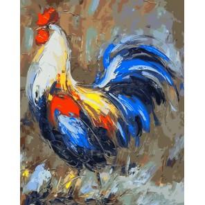 Гордый петух Раскраска картина по номерам акриловыми красками на холсте Menglei