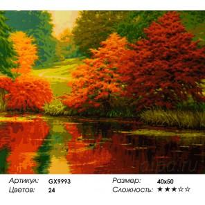 Количество цветов и сложность Осенний карнавал Раскраска картина по номерам акриловыми красками на холсте