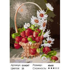 Количество цветов и сложность Излюбленный десерт Раскраска картина по номерам акриловыми красками на холсте