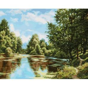 В родном краю Раскраска картина по номерам акриловыми красками на холсте Белоснежка