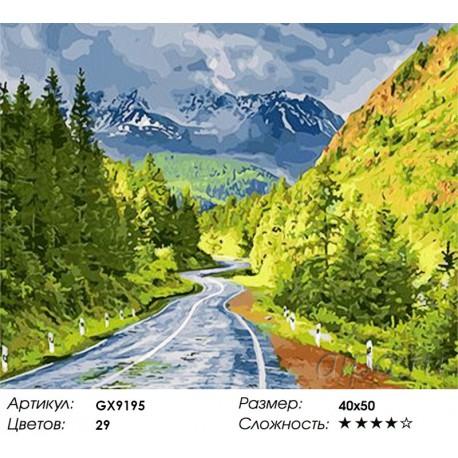 Количество цветов и сложность Дорога дальняя Раскраска картина по номерам акриловыми красками на холсте