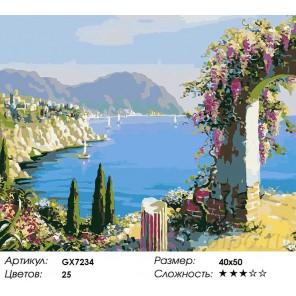Количество цветов и сложность Побережье Анатолии Раскраска картина по номерам акриловыми красками на холсте