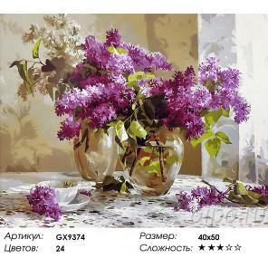 Количество цветов и сложность Ароматы сирени Раскраска картина по номерам акриловыми красками на холсте