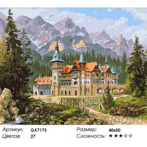 Альпийский замок Раскраска картина по номерам на холсте
