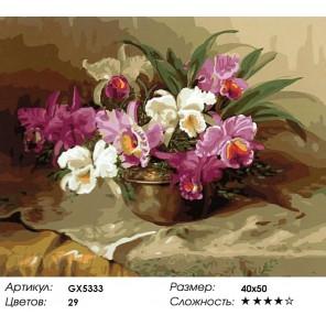 Нежность в вазе Раскраска картина по номерам на холсте