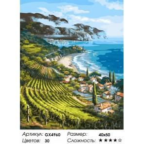 Количество цветов и сложность Виноградники Лацио Раскраска картина по номерам акриловыми красками на холсте