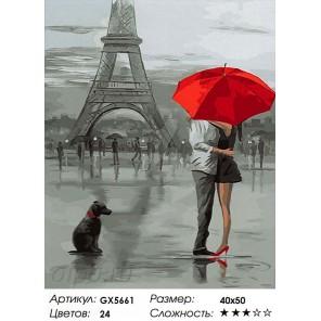 Парижские мотивы Раскраска картина по номерам на холсте