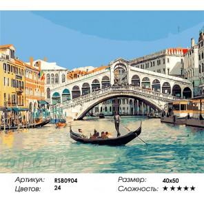 Под чистым небом Венеции Раскраска картина по номерам на холсте