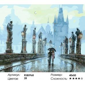 Прогулка по Праге Раскраска картина по номерам на холсте