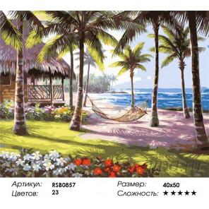 Количество цветов и сложность Райский остров  Раскраска картина по номерам акриловыми красками на холсте