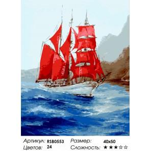 Навстречу к Ассоль Раскраска картина по номерам на холсте