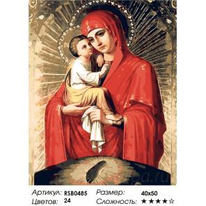 Почаевская Пресвятая Богородица Раскраска картина по номерам акриловыми красками на холсте