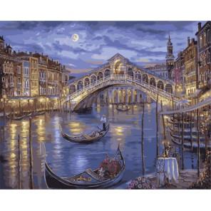 Венеция в огнях Раскраска картина по номерам акриловыми красками на холсте Menglei