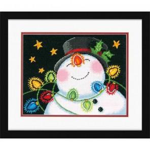 Снеговик в фонариках Набор для вышивания Гобелен Dimensions