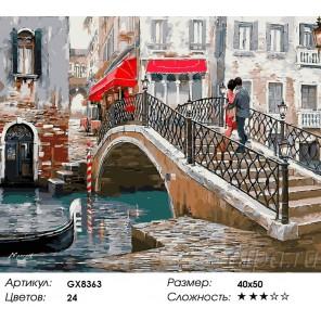 Венецианский мост Раскраска картина по номерам на холсте