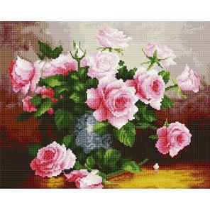 Французские розы Алмазная мозаика вышивка на подрамнике Molly