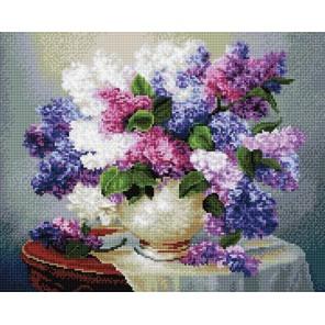 Садовая сирень Алмазная мозаика вышивка на подрамнике Molly