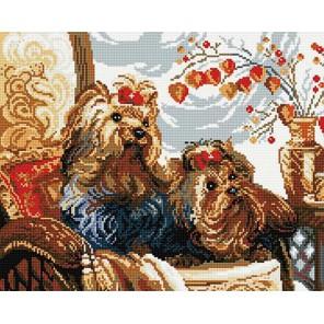 Йорки Алмазная мозаика вышивка на подрамнике Molly