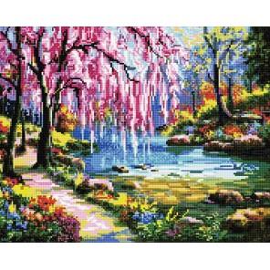 Розовое настроение Алмазная мозаика вышивка на подрамнике Molly