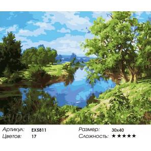 Количество цветов и сложность Июльский полдень Раскраска картина по номерам акриловыми красками на холсте Molly